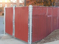 Chain Link dumpster enclosure fence