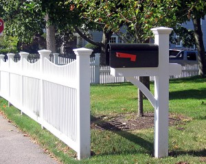 Picket Fence Nahant Mailbox Post