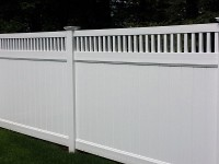 Vinyl Fence, Lynn Ma Fence, Dumpster Enclosure, Wood on Metal Frame