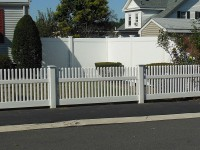 Vinyl Fence installation in Beverly MA